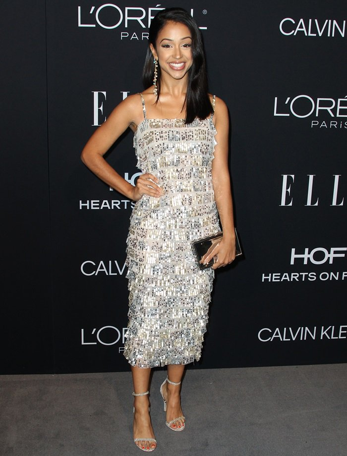Liza Koshy flashes her sexy legsat the 2018 Elle Women in Hollywood celebration held at the Four Seasons Hotel in Beverly Hills, California, on October 15, 2018