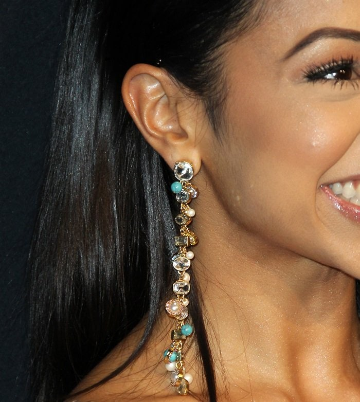 Liza Koshy proudly shows off her statement earrings