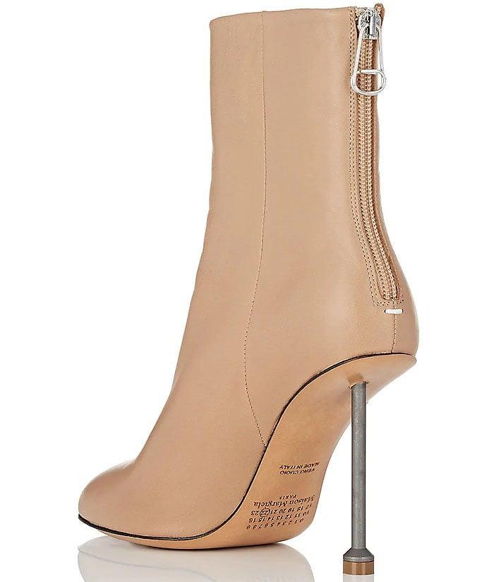 Maison Margiela beige nail-heel boots