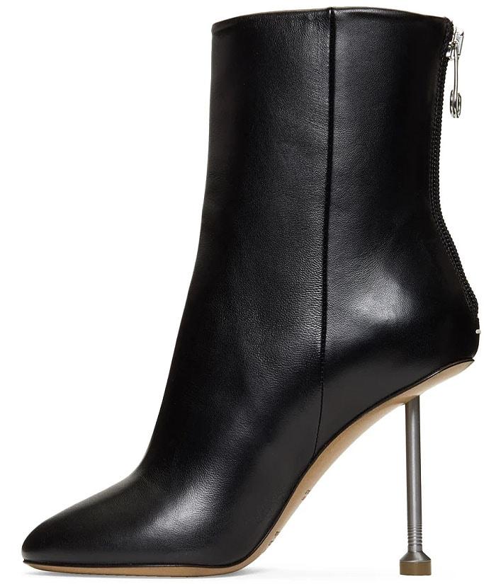Maison Margiela black nail-heel boots