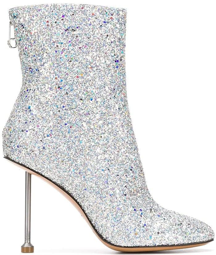 Maison Margiela glitter nail-heel boots