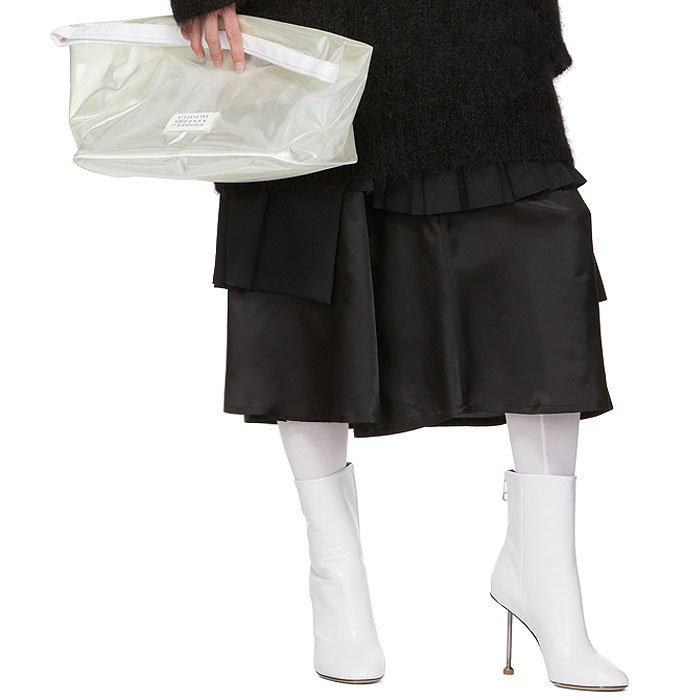 Maison Margiela white nail-heel boots