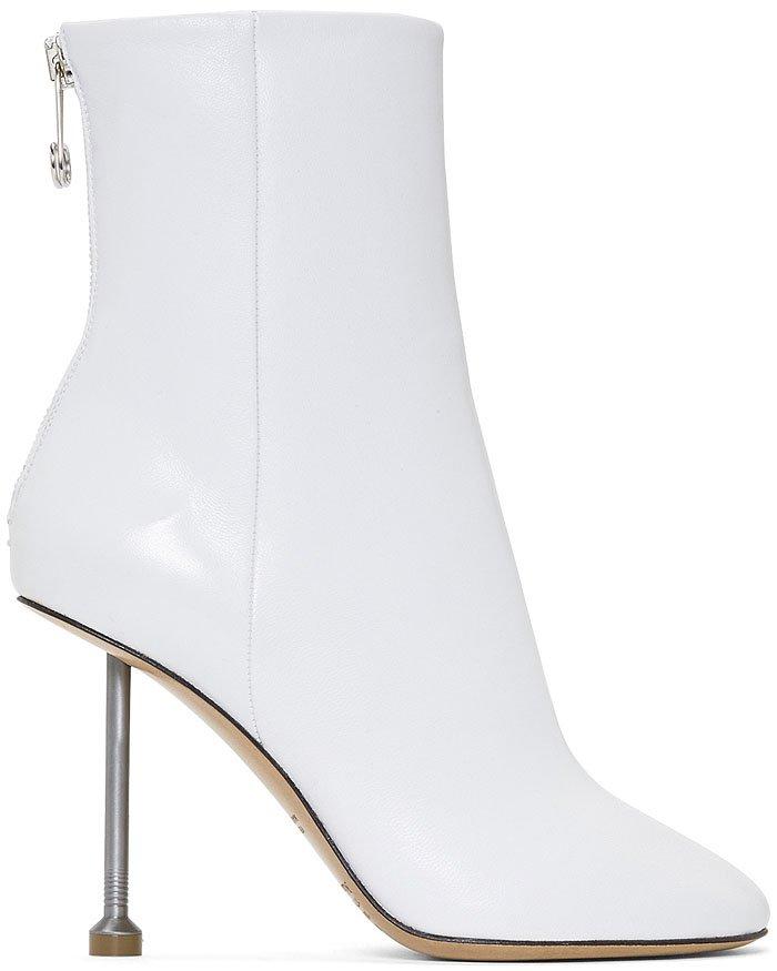 Maison Margiela white-leather nail-heel boots