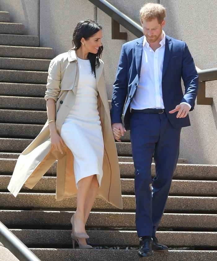 Meghan Markle announced her pregnancy in a white 'Blessed' dress fromAustralian designerKaren Gee