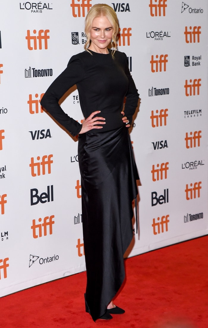Nicole Kidman walked the red carpet at the premiere of her movie Boy Erased during the 2018 Toronto International Film Festival in Toronto, Canada, on September 11, 2018