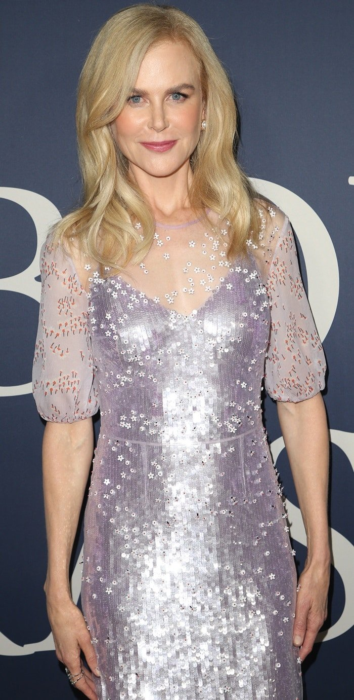 Nicole Kidman looked terrible in her unflattering Markus Lupfer Spring 2019 dress