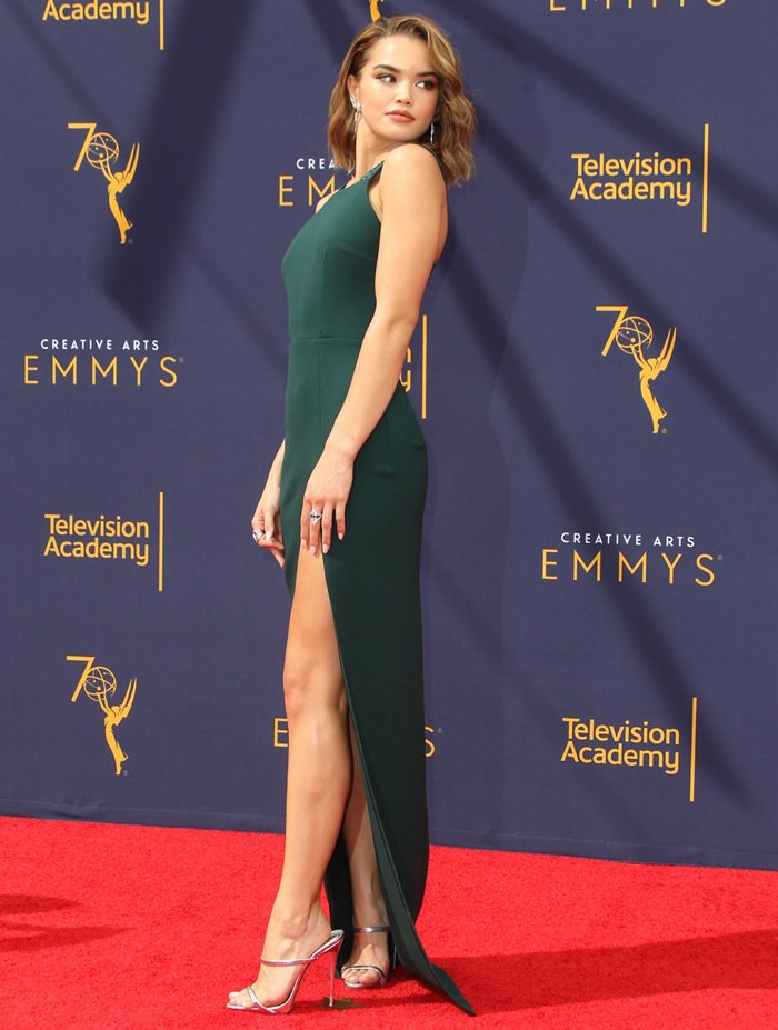 Paris Berelc walked the red carpet at the 2018 Emmy Awards held at the Microsoft Theater in Los Angeles on September 17, 2018