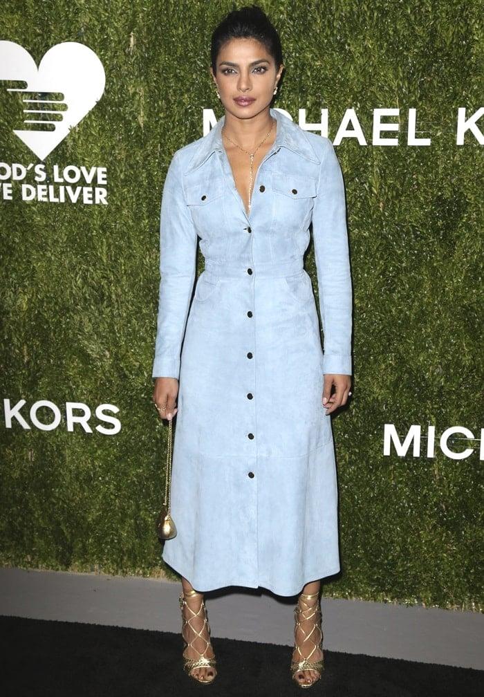 Priyanka Chopra at the God's Love We Deliver Golden Heart Awards at Spring Studios in New York City on October 16, 2018