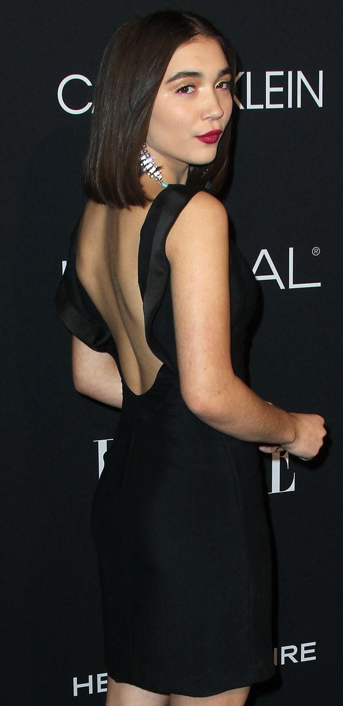 Rowan Blanchard rocksa simple black Calvin Klein LBD