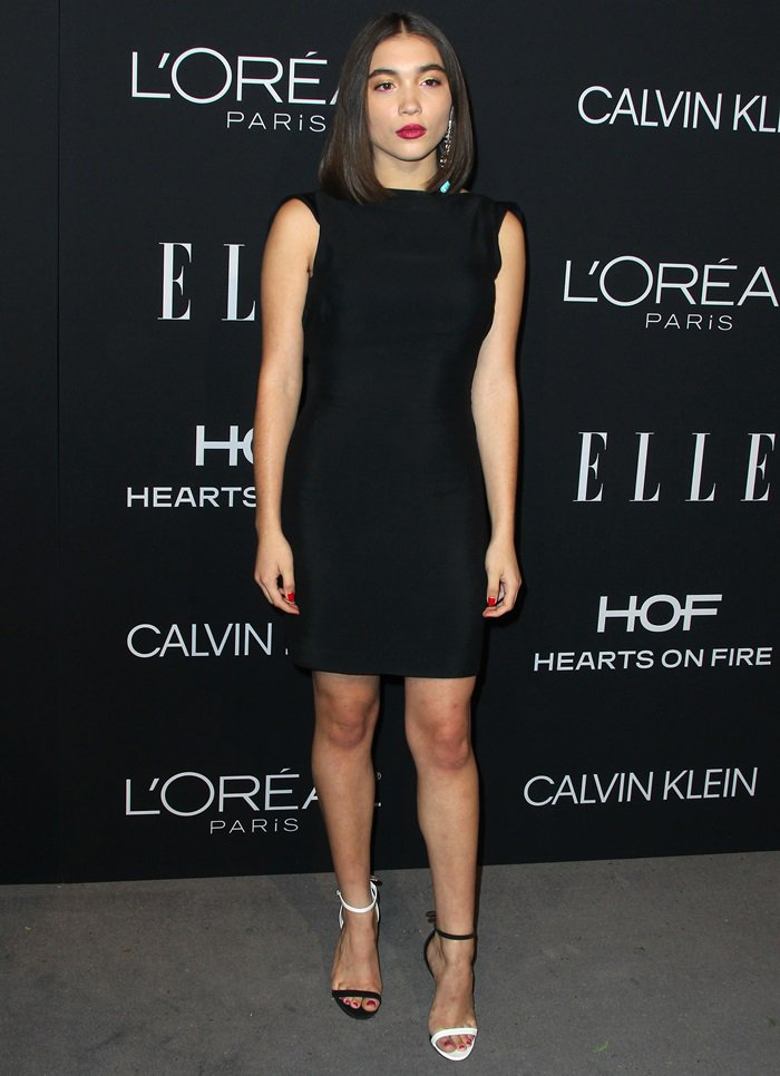 Rowan Blanchard put her endless legs on display at the 2018 Elle Women in Hollywood celebration