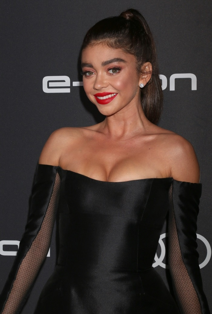 Sarah Hyland attending the Audi pre-Emmy celebration in West Hollywood, California, on September 14, 2018