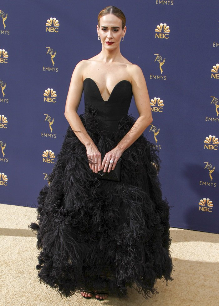 Sarah Paulson at the 2018 Emmy Awards held at the Microsoft Theater in Los Angeles on September 17, 2018