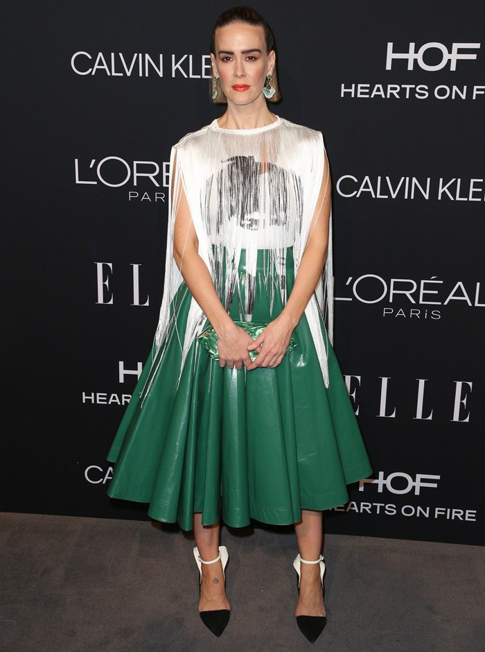 Sarah Paulson at the 2018 Elle Women in Hollywood celebration held at the Four Seasons Hotel in Beverly Hills, California, on October 15, 2018