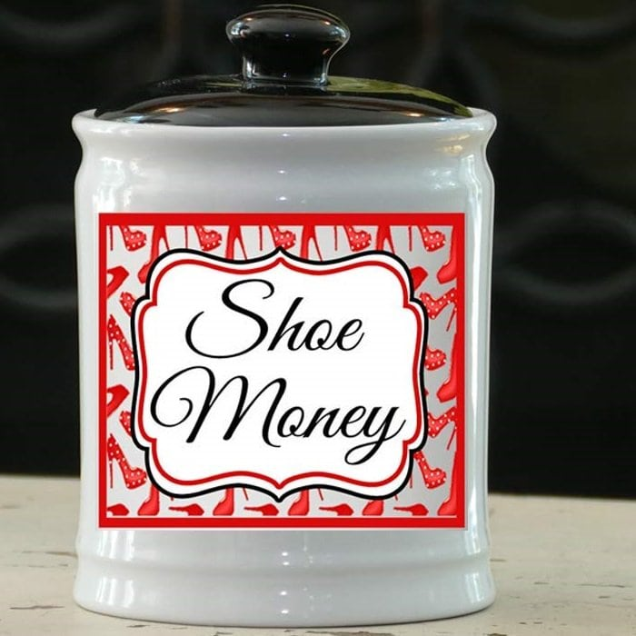 Shoe Money Ceramic Jar