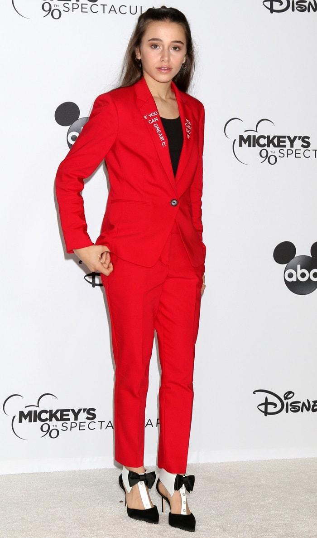 Sky Katz at Mickey's 90th Spectacular celebration held at Shrine Auditorium in Los Angeles on October 6, 2018
