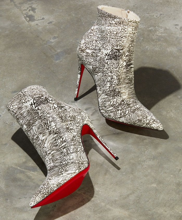 So Kate 100 Calf Caligraf Red Sole Booties