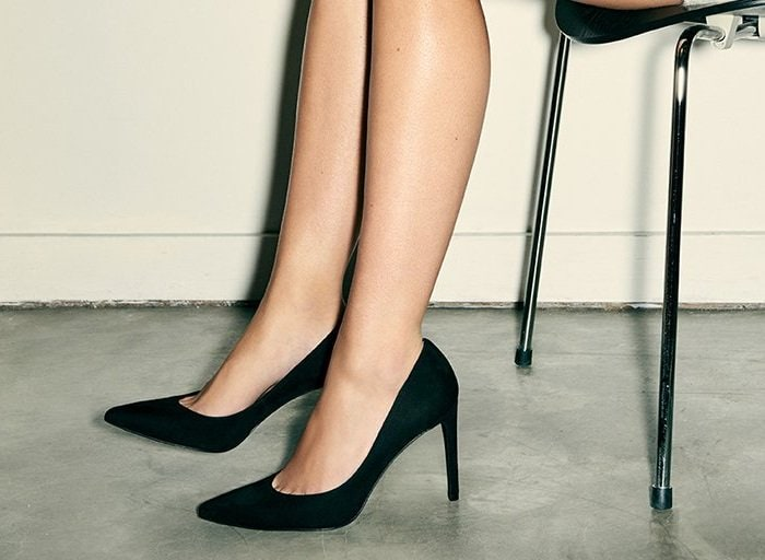 These pointed-toe pumps just might be perfect — note the vamp, designed with dipped sides to showcase the arch of the foot and the sleek stiletto heel