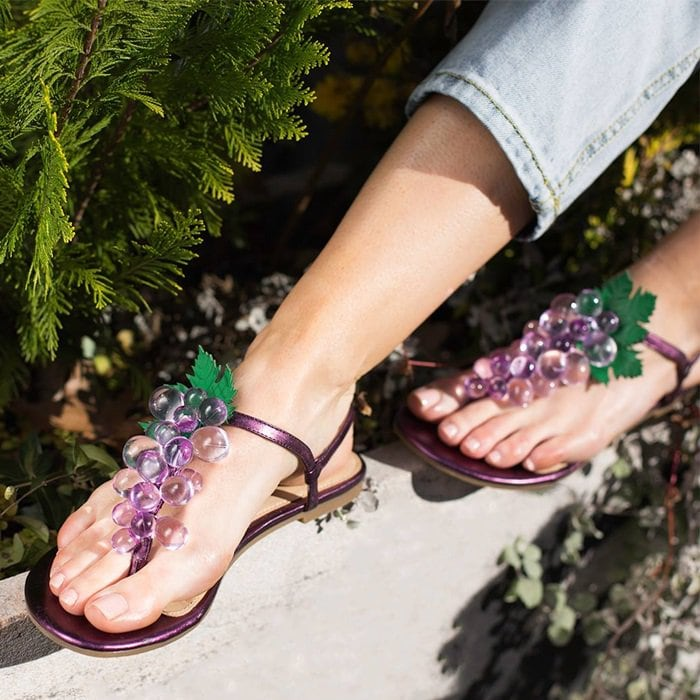 Straight from the grapevine, these sandals are a seriously sweet update on an everyday style