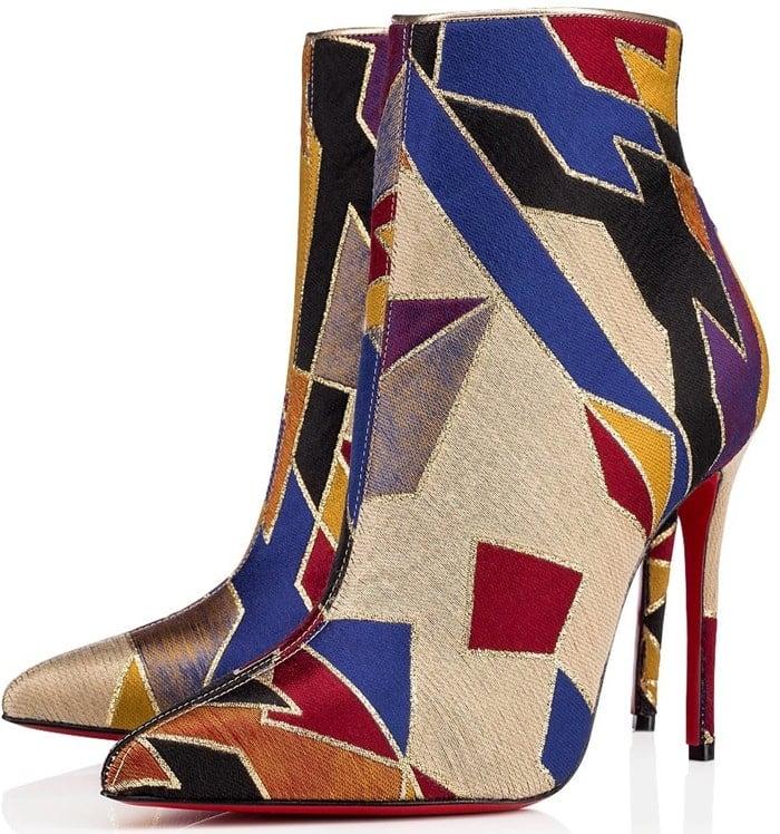 Tissu Geometrique So Kate Metallic Ankle Boots