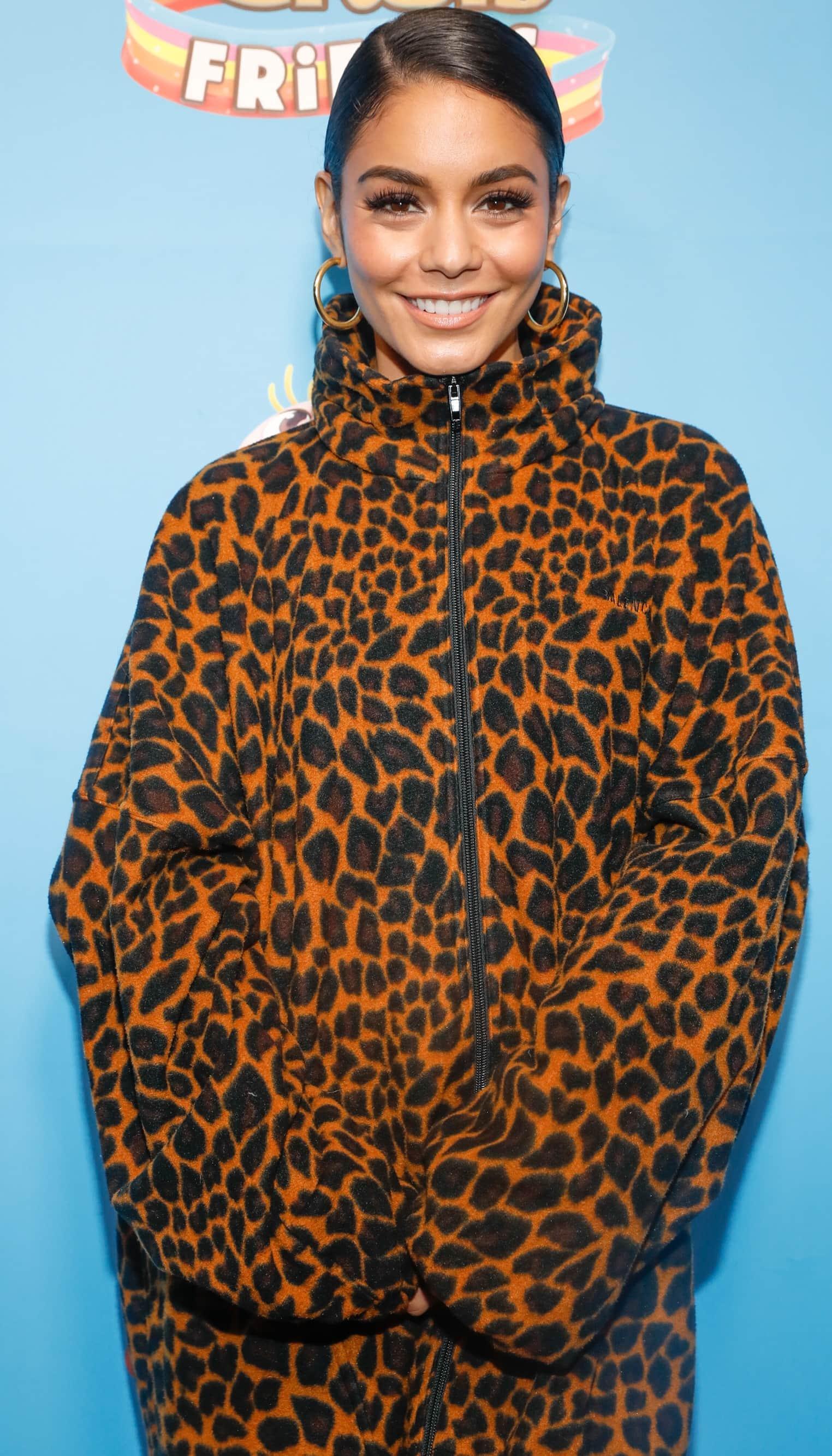 Vanessa Hudgens shows off herHera hoop earrings by Accessory Concierge