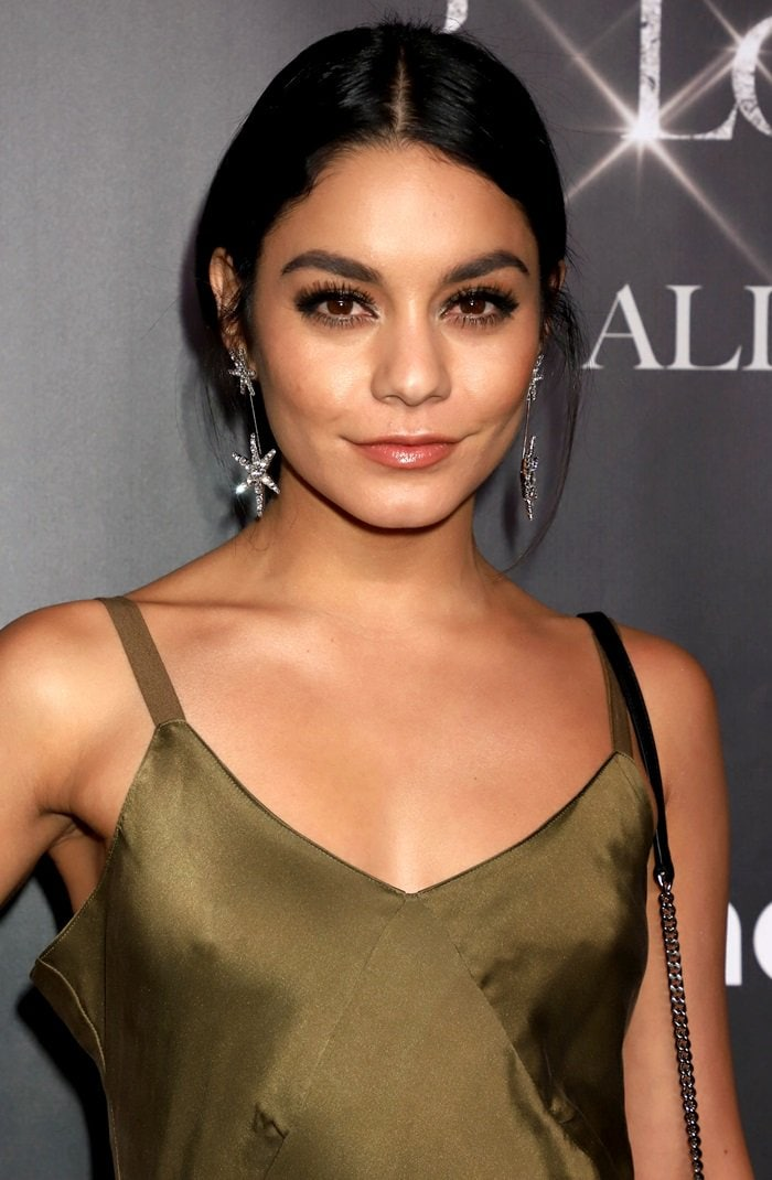 9ba6d1894021d Vanessa Hudgens shows off Jennifer Behr's Estee crystal star earrings