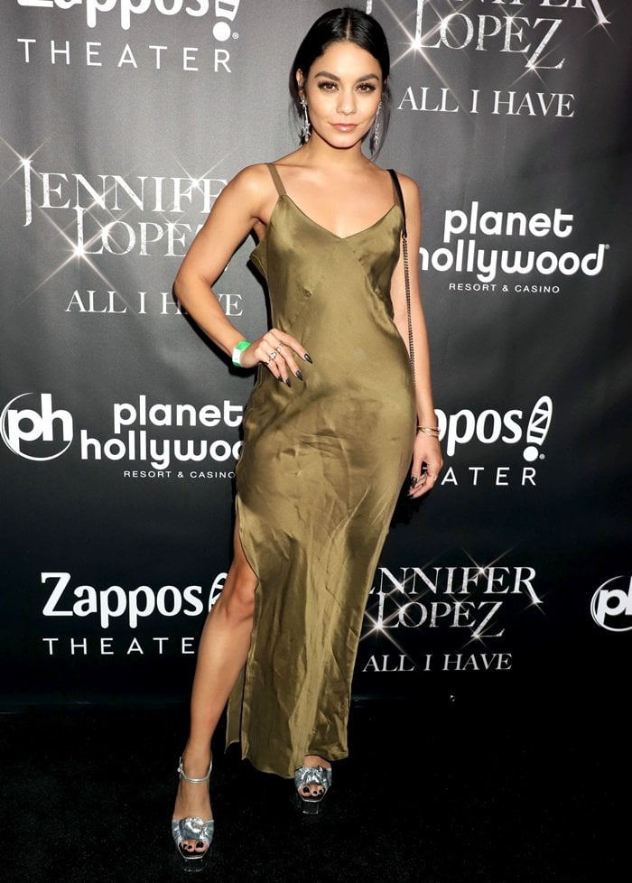 c06ea7ff62e93 Vanessa Hudgens flaunts her sexy legs at the 'Jennifer Lopez: All I Have'