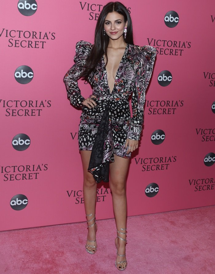 Victoria Justice attending the after party following the 2018 Victoria's Secret Fashion Show in New York City on November 8, 2018