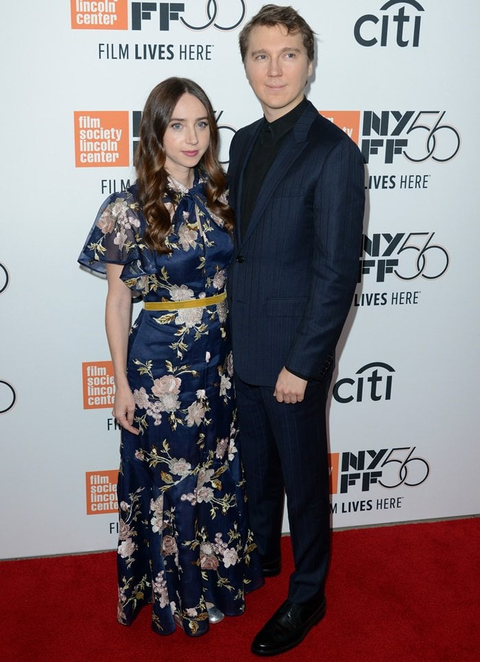 Zoe Kazan and Paul Dano at the Wildlife premiere during the 2018 New York Film Festival at Alice Tully Hall at Lincoln Center in New York City on September 30, 2018