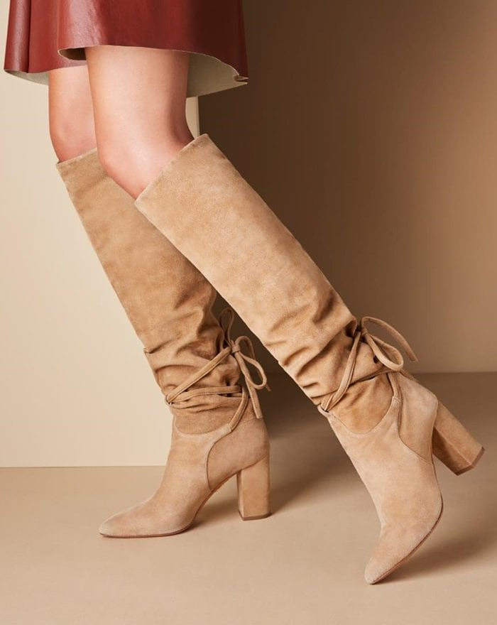 These knee-high shoes in Bisque taupe are every well-curated wardrobe deserves