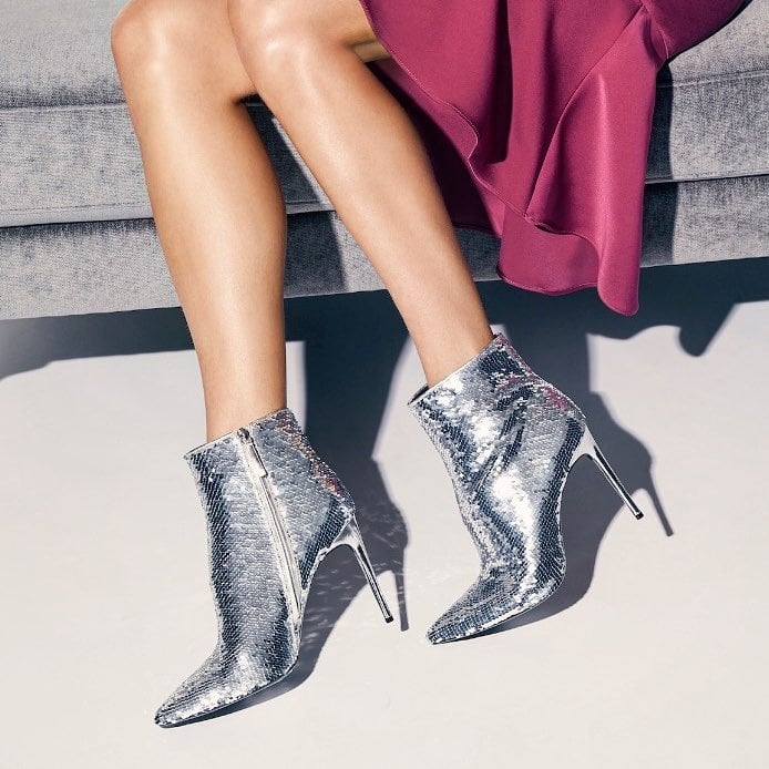 These sleek sequin booties are what statement look dreams are made of
