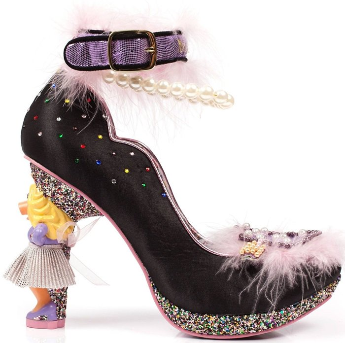 Meticulously designed by the brand Irregular Choice, these stilettos feature fabulous details to entice any fashionista