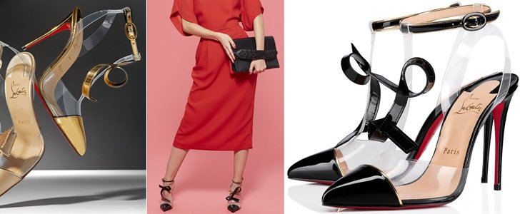 Alta Firma See-Through Vinyl Red Sole Pumps by Christian Louboutin