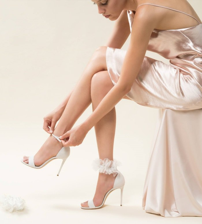Aurora Bridal Sandal in Beautiful Organza