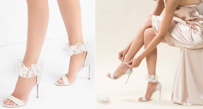 c2de0dfe4fdd Aurora Bridal Sandal With Decorative Removable Tulle by Casadei