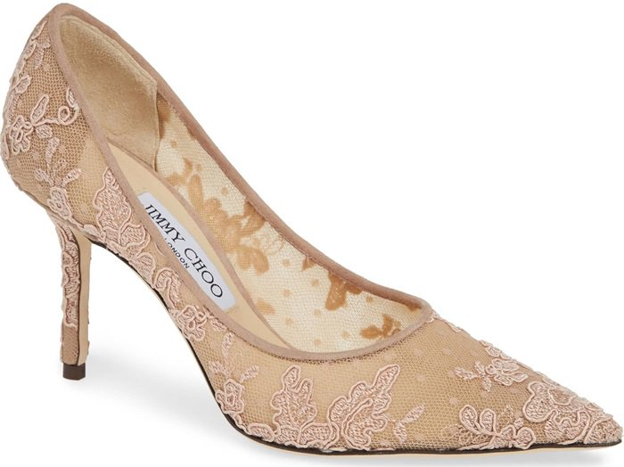 Love in ballet pink floral lace is the definition of elegance with a touch of edge