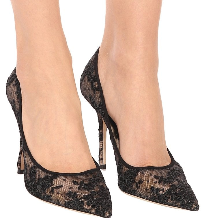 Love in black floral lace is the definition of elegance with a touch of edge