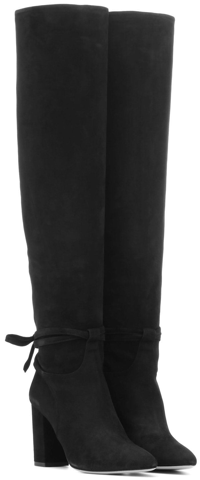 Black Milano Slouchy Knee High Boots