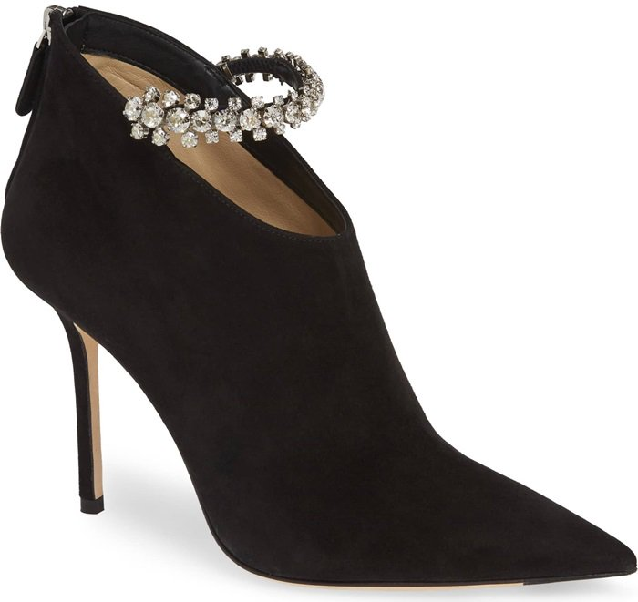 Black Suede Blaize Embellished Booties