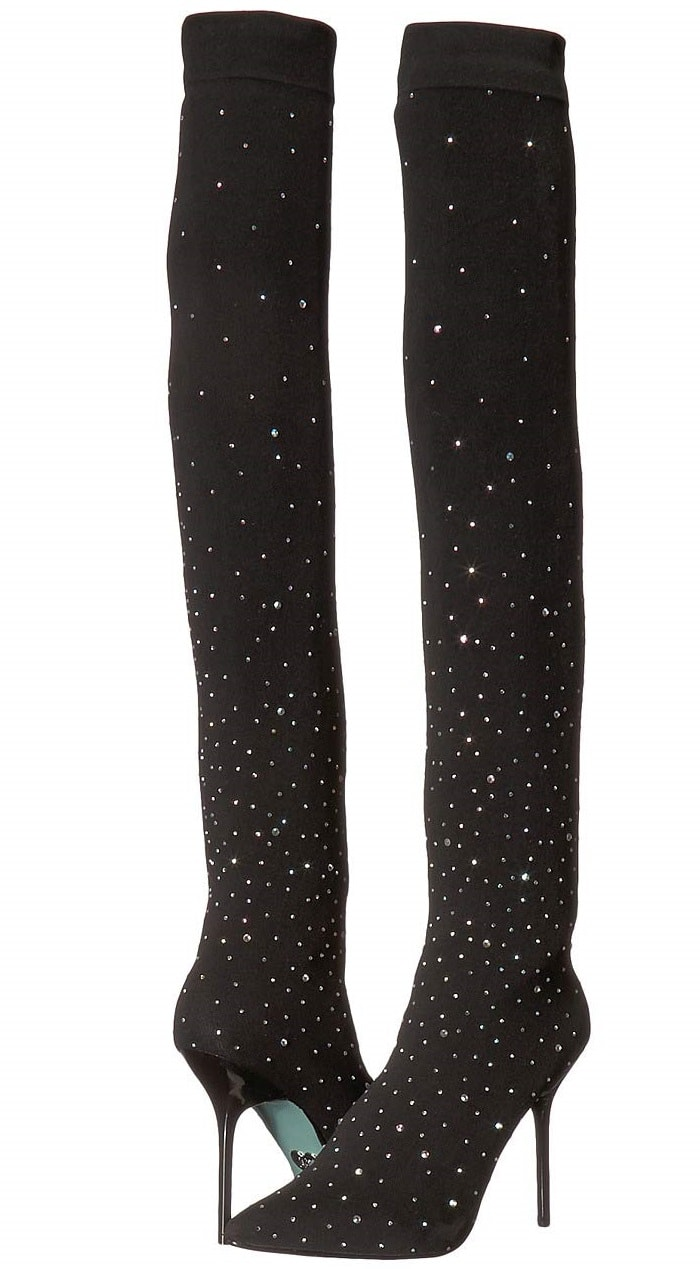 Rhinestone Jozie Stretch Over The Knee Boots