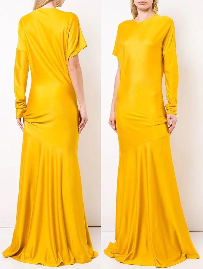 Calvin Klein 205W39NYC Asymmetric Sleeve Dress