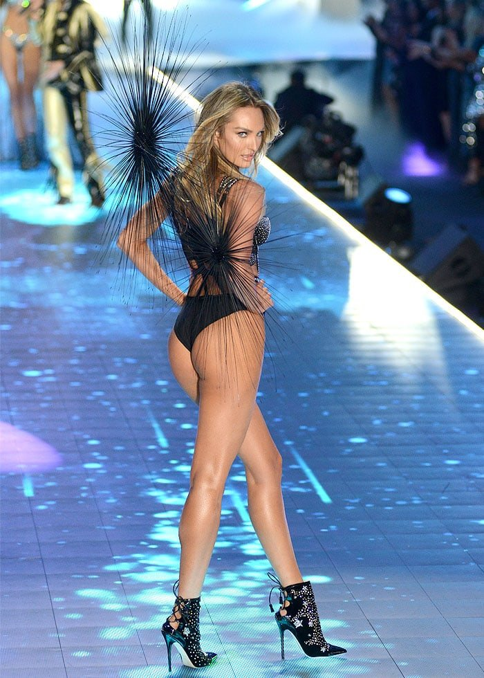 Candice Swanepoel showing that she's back to her top model form only five months after giving birth to her second son