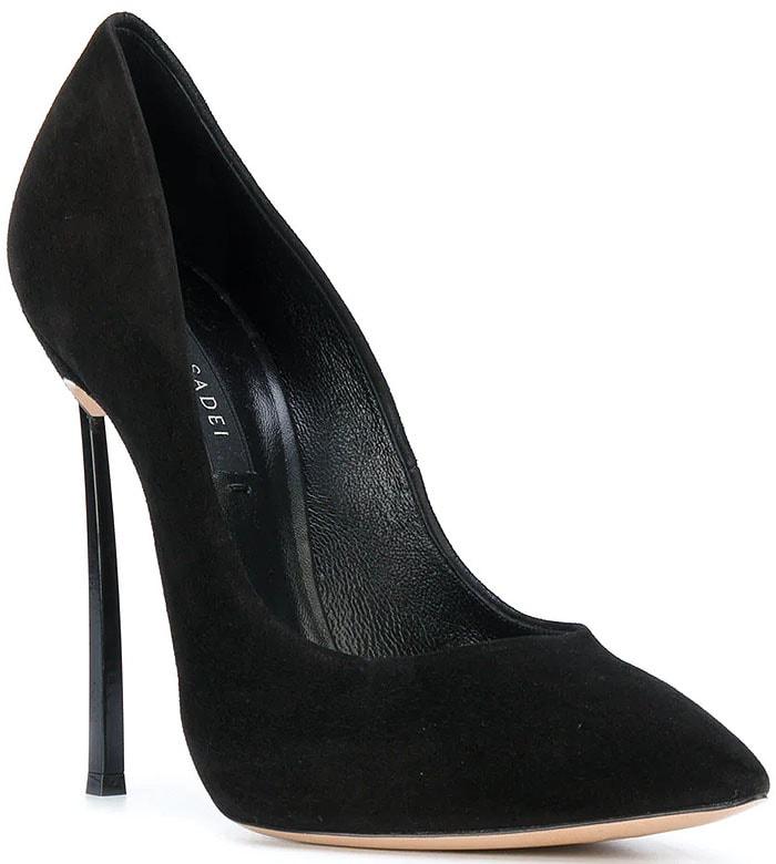 Casadei Black-Suede Blade-Heel Pumps
