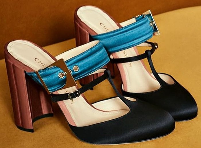 Teal/Orange Chloe Gosselin Olympe Mules