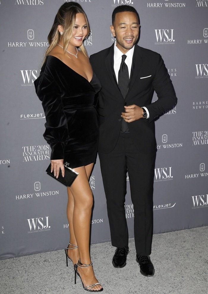 Chrissy Teigen and John Legendat the WSJ Magazine's 2018 Innovator Awards at the Museum of Modern Art in New York City on November 7, 2018