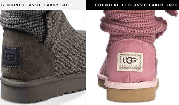 As for the UGG label on the back of the heel, you should compare it to an authentic UGG label