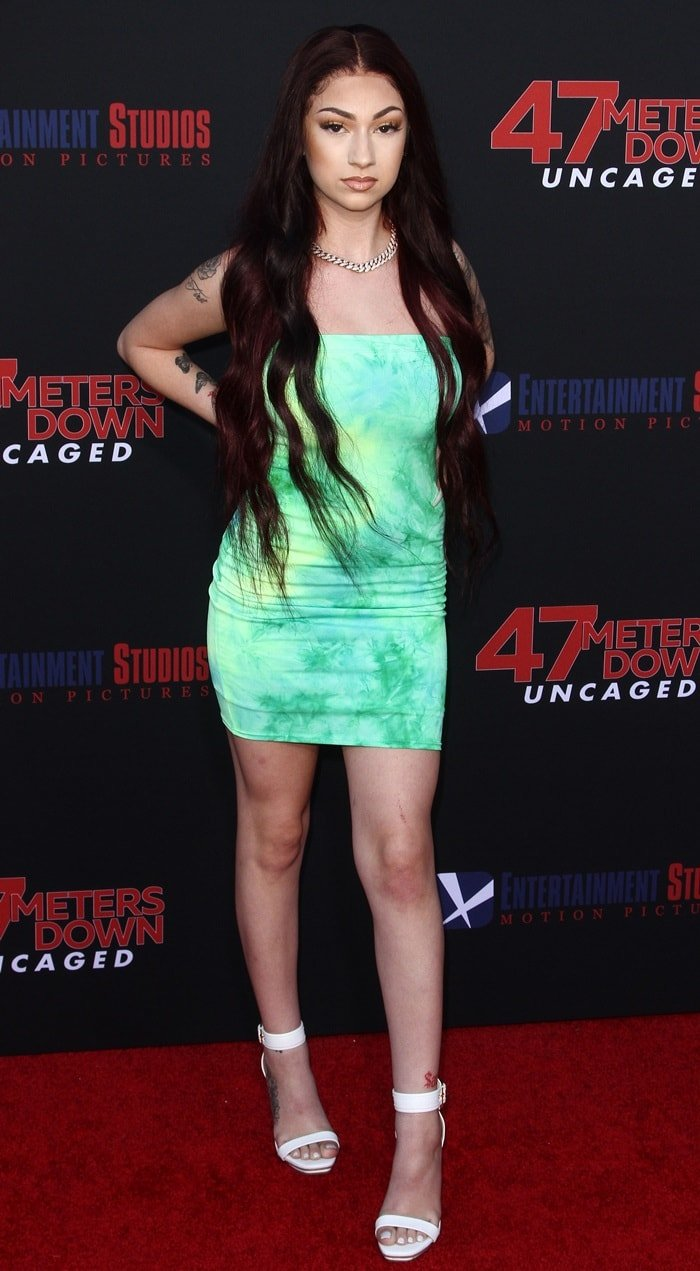"Danielle Bregoli flaunts her legs at the LA Premiere Of Entertainment Studios' ""47 Meters Down Uncaged"" at Regency Village Theatre on August 13, 2019, in Westwood, California"