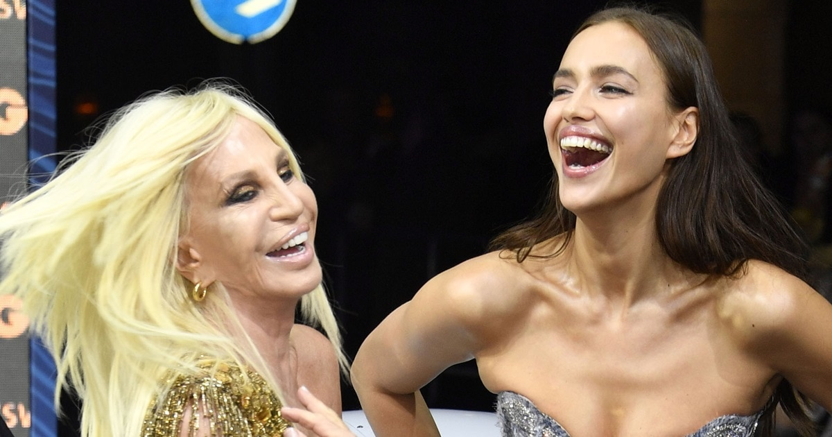Ora Rita Platinum Blonde Donatella And Versace In Wig Channels 8mwvO0Nn