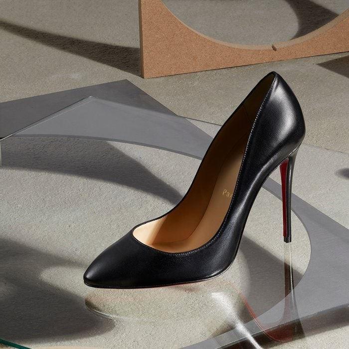 No need to keep an extra pair of shoes under your desk for evening—with its classic lines and iconic red sole, this refined pump will take you seamlessly from office to out-on-the-town