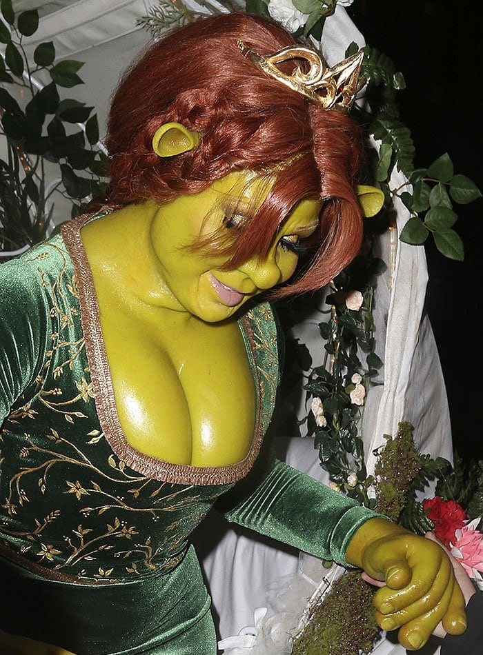 "Heidi Klum dressed as Princess Fiona from ""Shrek"""