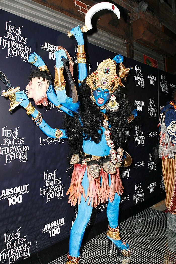 Heidi Klum as Hindu Goddess Kali for Halloween 2008